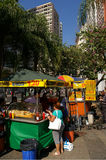 Street fast food stall. On the streets of Rio de Janeiro, Brazil Royalty Free Stock Image