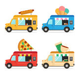 Street Fast Food Truck Set. Vector Stock Photography