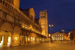 Street of Ferrara Royalty Free Stock Images