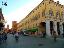 Street in Ferrara Stock Photo