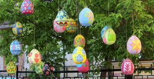 Street festival of Easter eggs Stock Photography