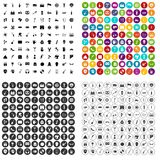 100 street festival icons set vector variant. 100 street festival icons set vector in 4 variant for any web design isolated on white Stock Illustration
