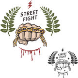 Street fight 2. Emblem and logo street fight Stock Images