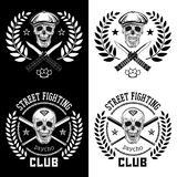 Street fight emblem Royalty Free Stock Photos