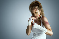 Street fighter. Royalty Free Stock Photo