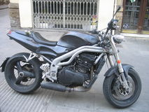 Street fighter bike. A Triumph Speed Triple 955i 00 Royalty Free Stock Images