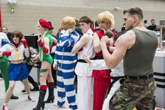Street Fighter cosplayers Stock Photo