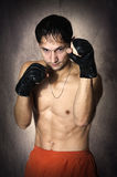 Street fighter in defense pose. martial art Royalty Free Stock Photography