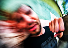 Street fighting abstraction Stock Photography