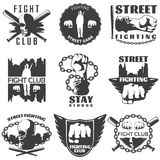 Street Fighting Black White Labels Stock Photo