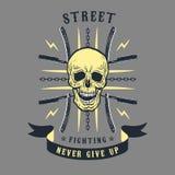 Street fighting emblem Royalty Free Stock Image