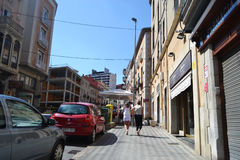 Street in Figueras, Catalonia Stock Photography
