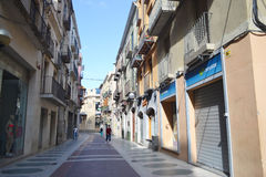 Street in Figueras, Catalonia Stock Photo