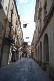 Street in Figueras, Catalonia Royalty Free Stock Photos