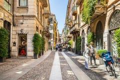 Street Fiori Oscuri in Milan. Italy royalty free stock image