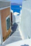 Street of Fira in Santorini Greece Royalty Free Stock Photos