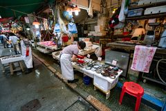 Hong Kong, China - Street market stock photos
