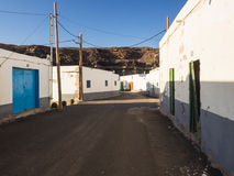 Street of a fishing village at Fuerteventura, Canaries. The image shows the scenery of a typical fishing village at the Canary Islands Royalty Free Stock Images
