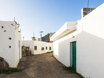 Street of a fishing village at Fuerteventura, Canaries Stock Images