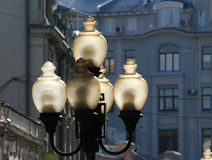 Street fixtures in  Moscow  in the street Arbat Stock Photography