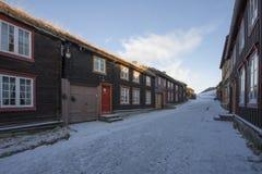 Street Flanderborg in Roros Stock Images