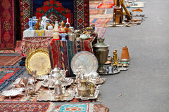 Street flea market in Yerevan Royalty Free Stock Photography
