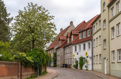 Street in Flensburg, Germany, Schleswig-Holstein. Street in Flensburg - Germany, Schleswig-Holstein royalty free stock images