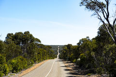Street in Flinders Chase National Park, Kangaroo Island, Australia. Long road in Flinders Chase National Park, Kangaroo Island, South Australia royalty free stock image