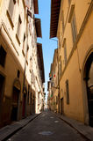 Street in Florence. Wide angle view of old little empty in Florence, Italy Stock Photos