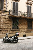 Street of Florence. Typical street of old european town (Florence, Italy Stock Photos