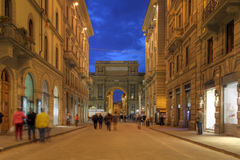 Street in Florence, Italy stock photography