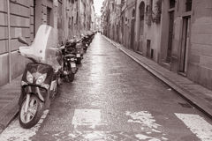 Street in Florence with Motorbike Scooter, Italy Stock Images