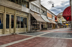 Street of Florina, a popular winter destination in northern Greece. On an overcast autumn day royalty free stock photos