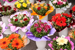 Street flower market. Royalty Free Stock Photography
