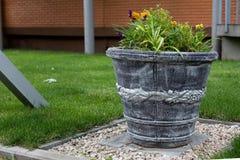 Street flower pot Stock Photography