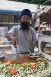 Street Food - Amritsar - India. Sikh street food vendor in the city of Amritsar in the Punjab region of northwest India Stock Photo