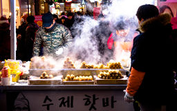 Street food around Seoul, South Korea Royalty Free Stock Images