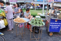 Street food in Asia. Mekong delta, Vietnam Stock Photos