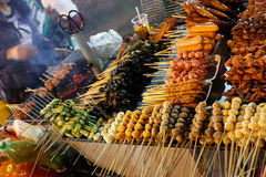 Street food Asian barbecue royalty free stock image