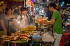ฺBangkok street food,Thai Food. Street food at bangkok grilled food Appetizers Fast food,Thai Food royalty free stock photo