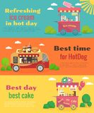 Street food banners set Royalty Free Stock Photo