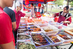 Street food bazaar in Malaysia catered for iftar during Ramadan Stock Photography