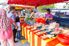 Street food bazaar in Malaysia catered for iftar during Ramadan Stock Photos