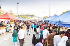 Street food bazaar in Malaysia catered for iftar during Ramadan Royalty Free Stock Image