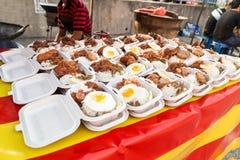 Street food bazaar in Malaysia for iftar during Ramadan fasting Royalty Free Stock Photography