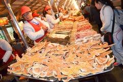 Street food. At beijing dong`anmen night market royalty free stock photo