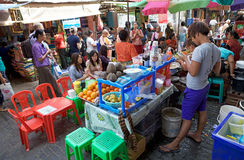 Street food at the Bogyoke Aung San Market, Yangon, Myanmar Stock Photos