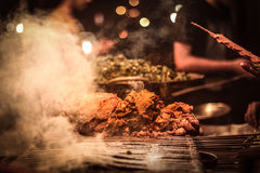 Street Food and bokeh Royalty Free Stock Photography