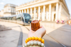 Street food in Bordeaux royalty free stock photography