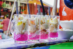 Street food in Burmese market, Myanmar. Burmese sweet desserts in Burmese market, Myanmar. Myanmar is one of the mysterious country in South East Asia and stock photography